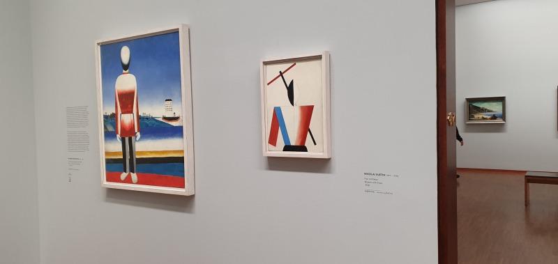 Vienna Albertina, view on Malevich