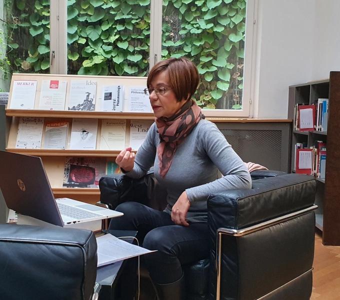 IWM Clemena Antonova during her presentation